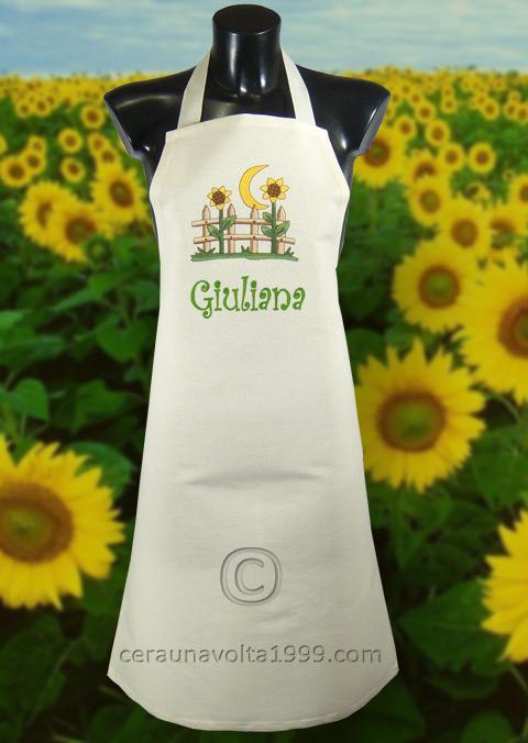 Grembiule cucina giraluna con nome idee regalo originali - Grembiule cucina personalizzato ...