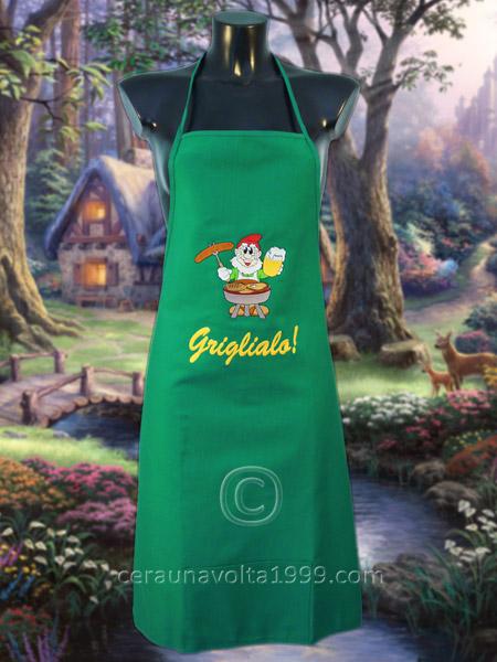 Grembiule da cucina griglialo idee regalo originali - Grembiule cucina personalizzato ...