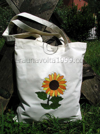 "Shopping Bag ricamata ""Girasole"""